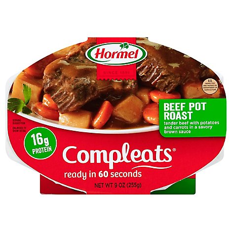 Hormel Compleats Microwave Meals Homestyle Beef Pot Roast - 9 Oz