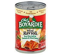 Chef Boyardee Pasta Mini Ravioli Beef in Tomato & Meat Sauce - 15 Oz