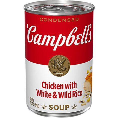 Campbells Soup Condensed Chicken With White & Wild Rice - 10.5 Oz