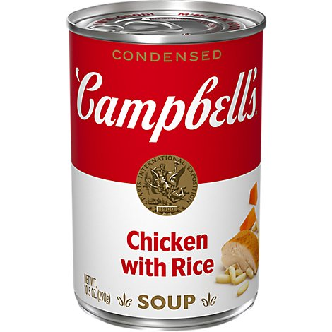 Campbells Soup Condensed Chicken With Rice - 10.5 Oz