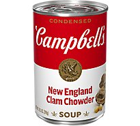 Campbells Soup Condensed Clam Chowder New England - 10.5 Oz