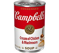 Campbells Soup Condensed Cream Of Chicken & Mushroom - 10.5 Oz