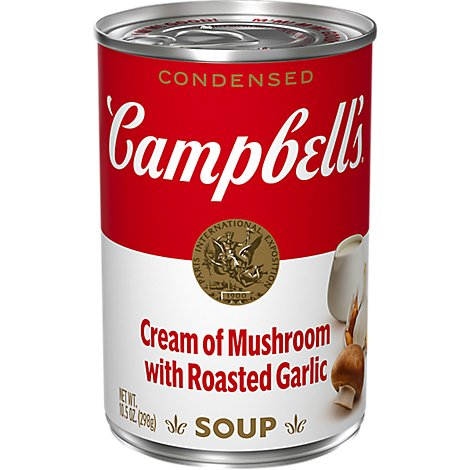 Campbells Soup Condensed Cream Of Mushroom with Roasted Garlic - 10.5 Oz