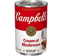 Campbells Condensed Soup Cream of Mushroom - 10.5 Oz