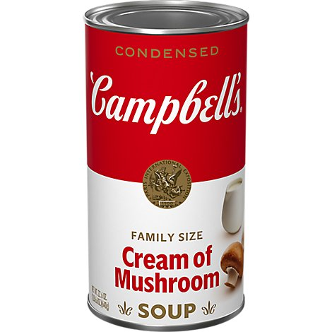 Campbells Soup Condensed Cream Of Mushroom Family Size - 26 Oz
