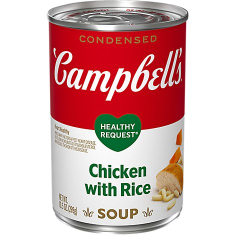 Campbells Healthy Request Soup Condensed Chicken with Rice - 10.75 Oz