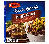 Lipton Recipe Secrets Recipe Soup & Dip Mix Beefy Onion 2 Count - 2.2 Oz