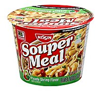 Nissin Souper Meal Ramen Noodle Soup Picante Shrimp Flavor Hot & Spicy - 4.3 Oz