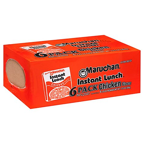 Maruchan Instant Lunch Ramen Noodle Soup Chicken Flavor - 6-2.25 Oz