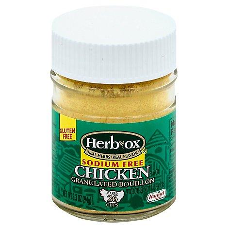 HERB-OX Bouillon Granulated Chicken Flavor Sodium Free - 3.3 Oz
