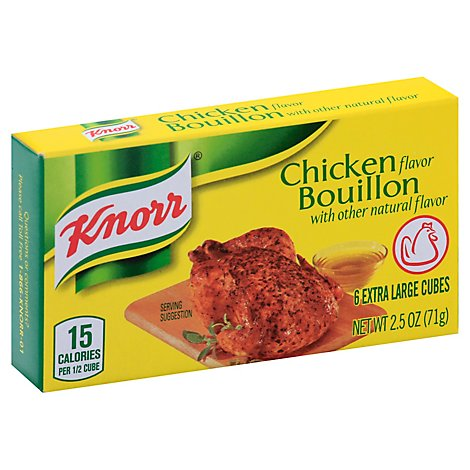 Knorr Bouillon Cubes Chicken Flavor Extra Large 6 Count - 2.5 Oz