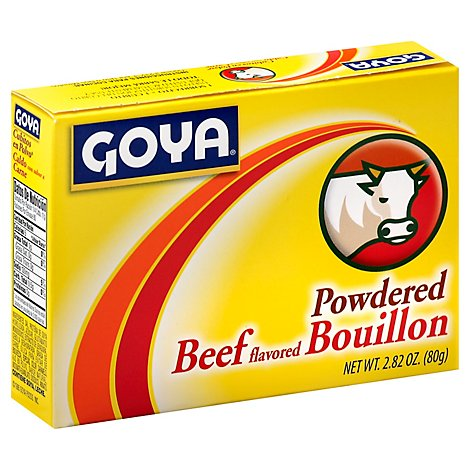 Goya Bouillon Powdered Beef Flavored Box - 2.82 Oz