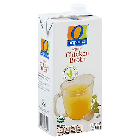O Organics Organic Broth Chicken - 32 Oz