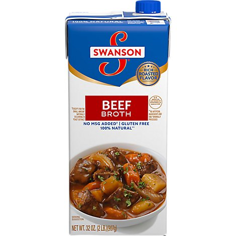 Swanson Crafted Broth Beef Artisan Brick - 32 Oz
