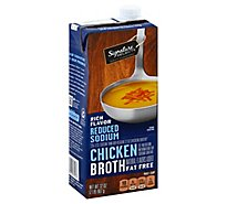 Signature Kitchens Broth Chicken Reduced Sodium - 32 Oz