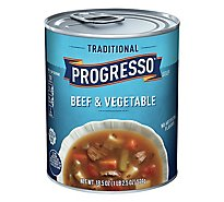 Progresso Traditional Soup Beef & Vegetable - 18.5 Oz
