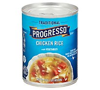 Progresso Traditional Soup Chicken Rice with Vegetables - 19 Oz