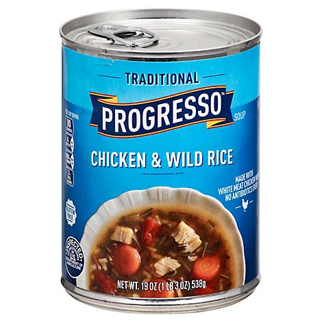 Progresso Traditional Soup Chicken & Wild Rice - 19 Oz