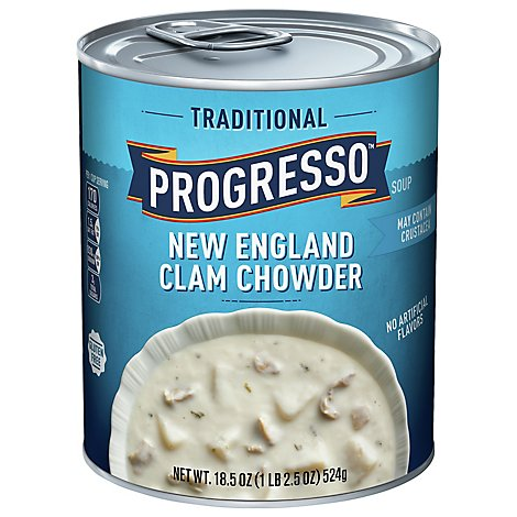 Progresso Traditional Soup New England Clam Chowder - 18.5 Oz