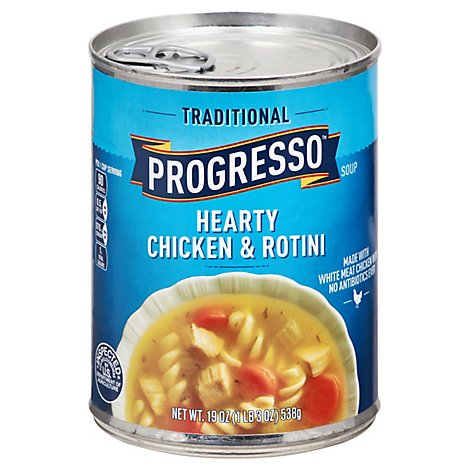 Progresso Traditional Soup Hearty Chicken & Rotini - 19 Oz