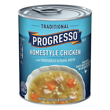 Progresso Traditional Soup Homestyle Chicken with Vegetables & Pearl Pasta - 19 Oz