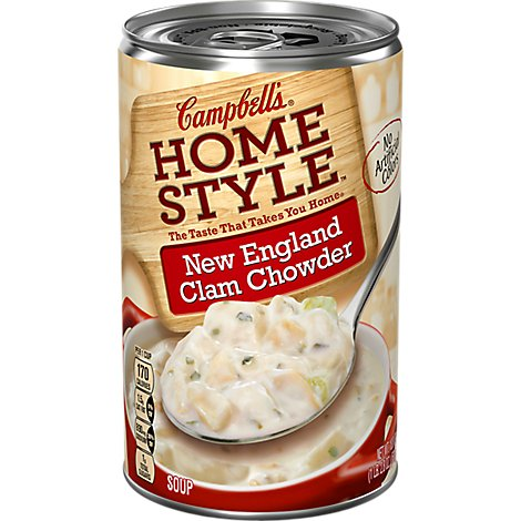 Campbells Home Style Soup New England Clam Chowder - 18.8 Oz