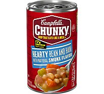 Campbells Chunky Soup Hearty Bean And Ham With Smoke Flavor - 19 Oz