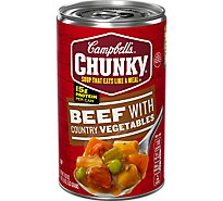 Campbells Chunky Soup Beef With Country Vegetables - 18.8 Oz