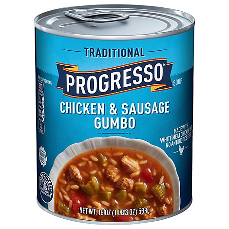 Progresso Traditional Soup Chicken & Sausage Gumbo - 19 Oz