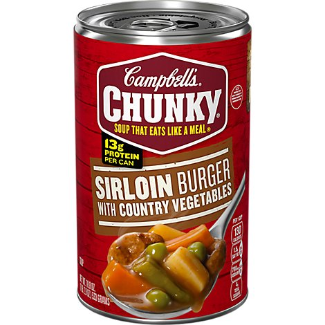 Campbells Chunky Soup Sirloin Burger with Country Vegetables - 18.8 Oz