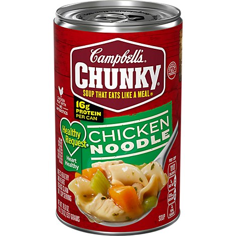 Campbells Chunky Healthy Request Soup Chicken Noodle - 18.6 Oz