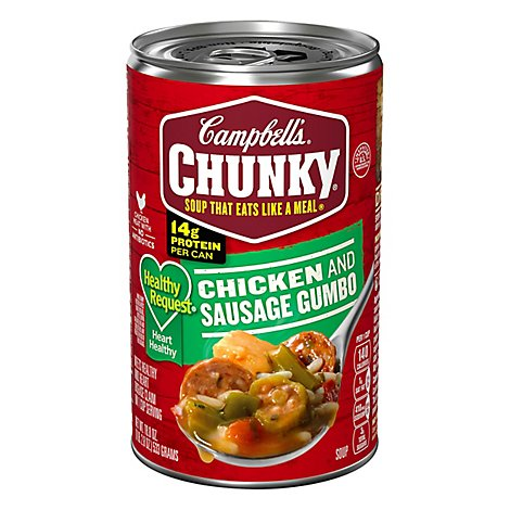 Campbells Chunky Healthy Request Soup Grilled Chicken & Sausage Gumbo - 18.8 Oz