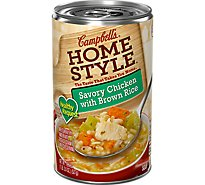 Campbells Home Style Healthy Request Soup Savory Chicken with Brown Rice - 18.6 Oz