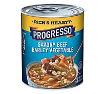Progresso Rich & Hearty Soup Savory Beef Barley Vegetable - 18.6 Oz
