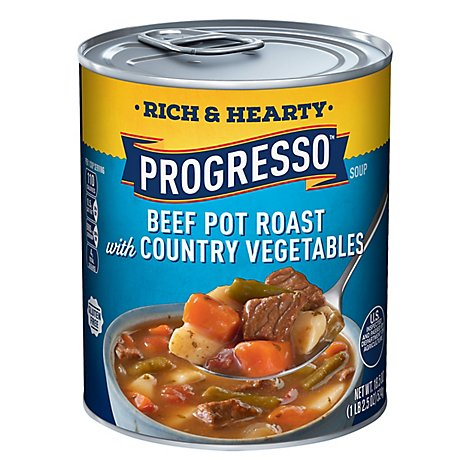 Progresso Rich & Hearty Soup Beef Pot Roast with Country Vegetables - 18.5 Oz