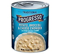 Progresso Traditional Soup Potato Brocolli & Cheese Chowder - 18.5 Oz