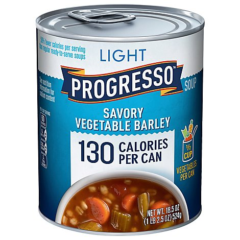 Progresso Light Soup Savory Vegetable Barley - 18.5 Oz