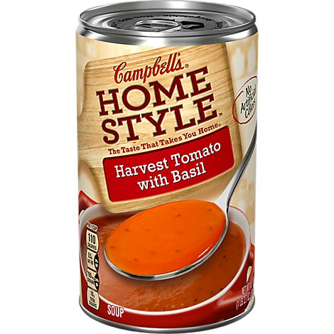 Campbells Home Style Soup Harvest Tomato with Basil - 18.6 Oz