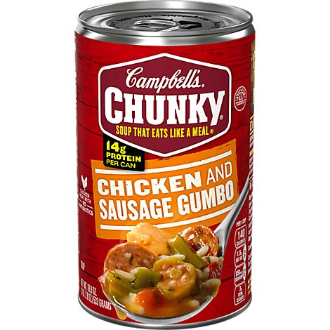 Campbells Chunky Soup Grilled Chicken & Sausage Gumbo - 18.8 Oz