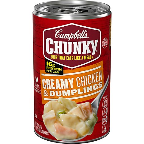 Campbells Chunky Soup Creamy Chicken & Dumplings - 18.8 Oz