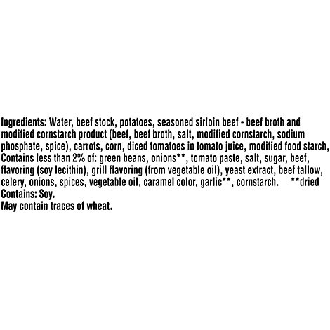 Campbells Chunky Soup Grilled Sirloin Steak With Hearty Vegetables - 18.8 Oz