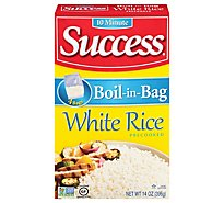 Success Boil-in-Bag Rice White Enriched Precooked 4 Count - 14 Oz