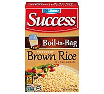Success Boil-in-Bag Rice Brown Whole Grain Precooked 4 Count - 14 Oz