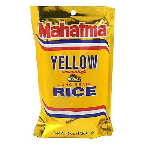 Mahatma Rice Long Grain Saffron Yellow Seasonings Pouch - 5 Oz
