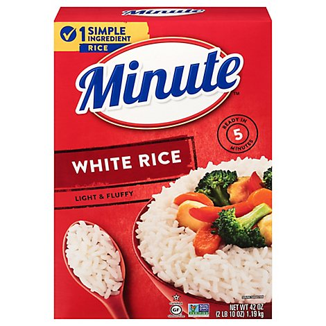 Minute Rice White Instant Enriched Long Grain - 42 Oz