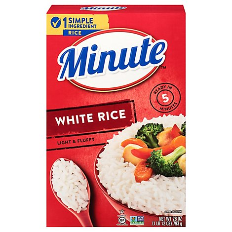 Minute Rice White Instant Enriched Long Grain - 28 Oz