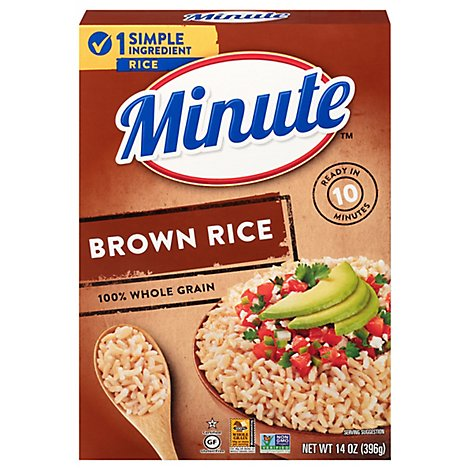 Minute Rice Brown Instant Whole Grain - 14 Oz