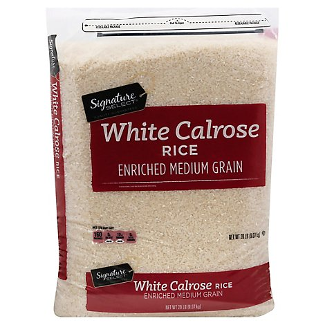 Signature SELECT Rice Calrose Medium Grain - 20 Lb