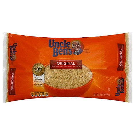 Uncle Bens Rice Parboiled Long Grain Enriched Original - 5 Lb