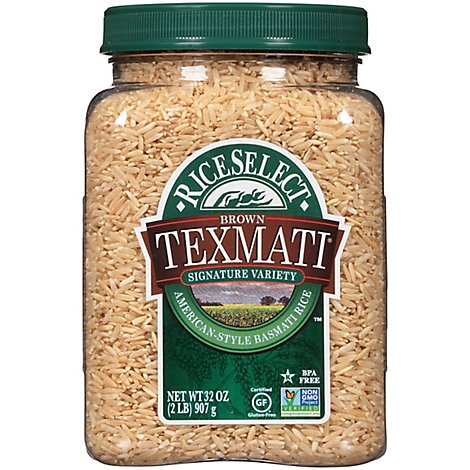 Rice Select Texmati Rice Brown Long Grain American Basmati - 32 Oz